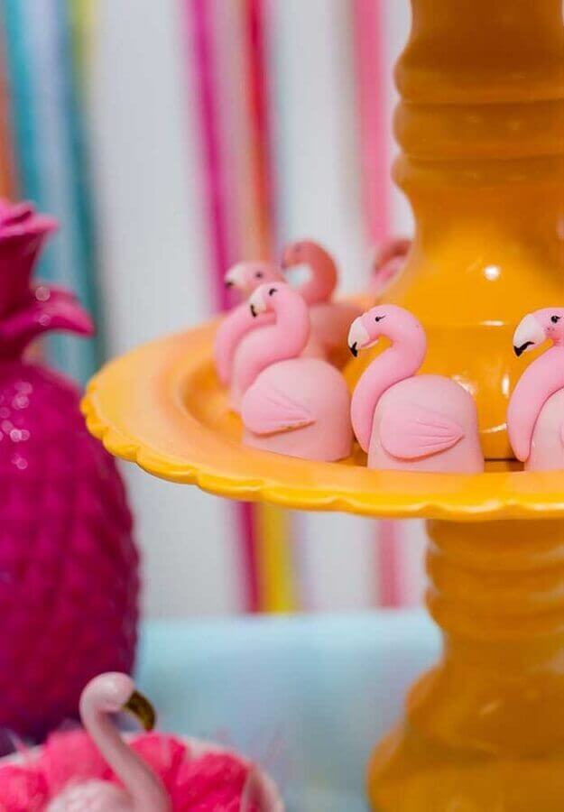 Personalized sweets for flamingo party Foto Pinterest