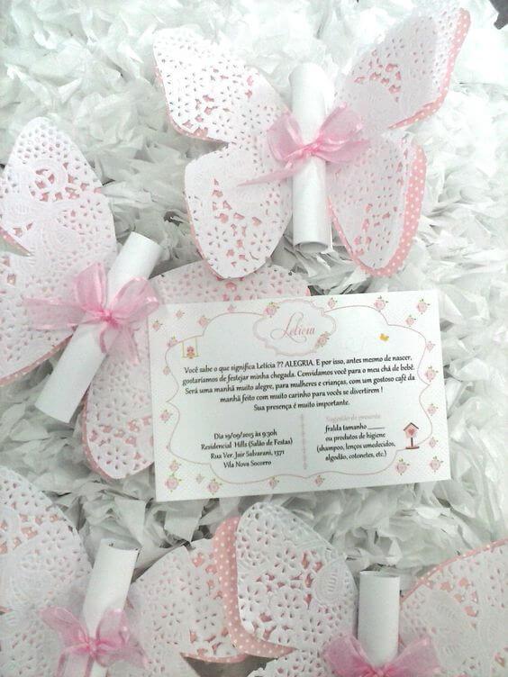 Children's Birthday Invitation butterflies