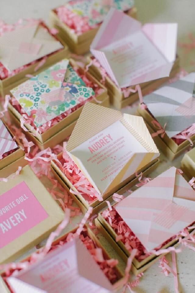 Creative children's birthday invitations
