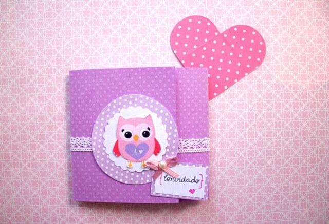 Children's Owl Birthday Invitation