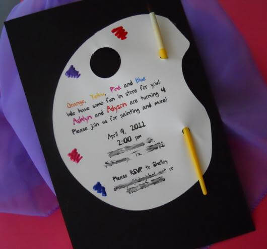 Creative colorful children's birthday invitation