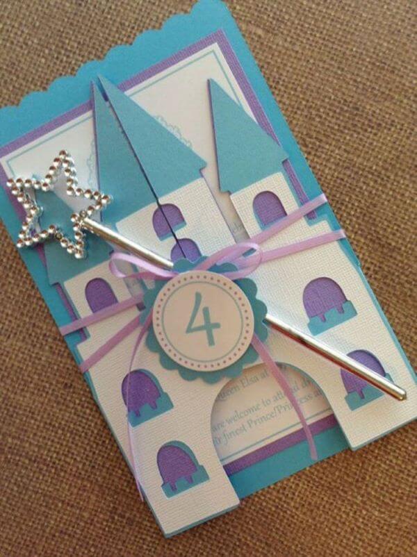 Children's and creative castle birthday invitation