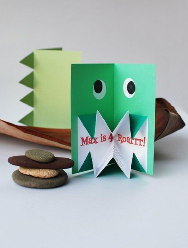 Creative children's birthday invitation