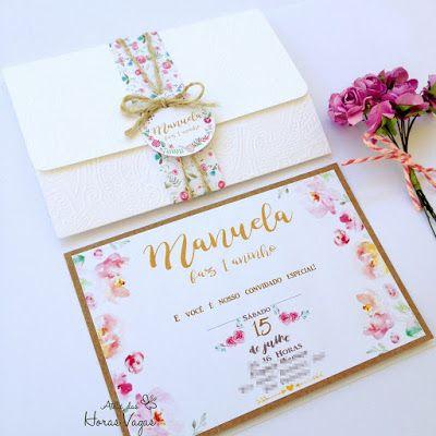 Invitation to floral children's birthday