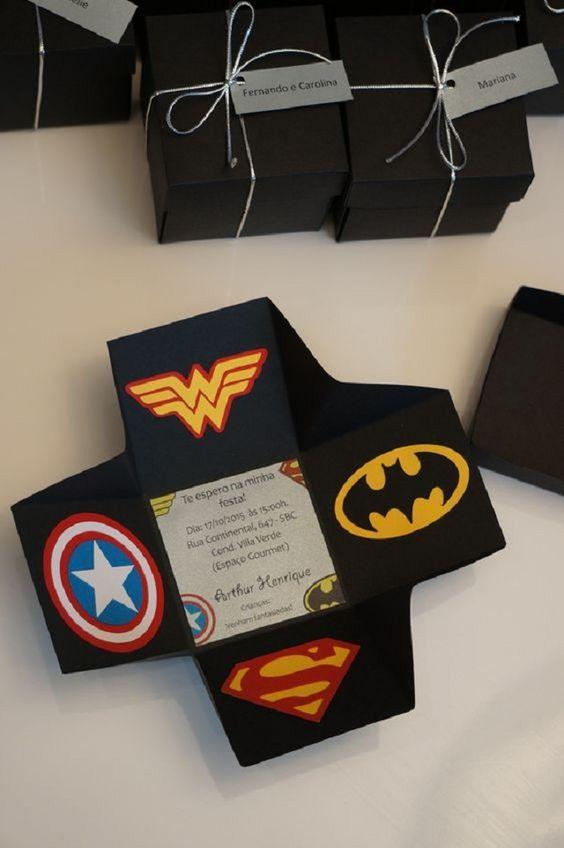 Invitation to super heroes' birthdays