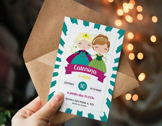 Frozen children's birthday invitation