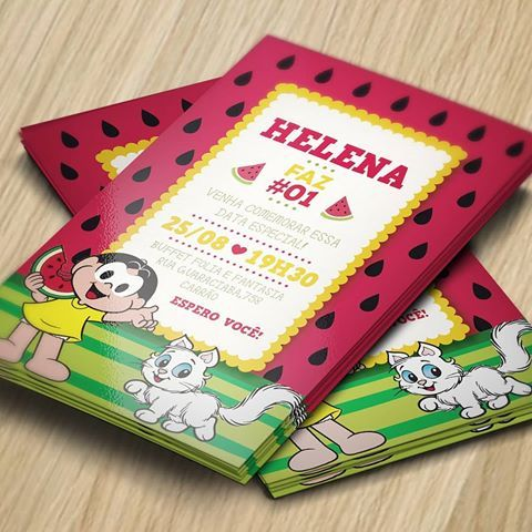 Invitation to party with Magali theme