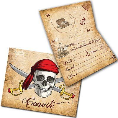 Children's Pirate Birthday Invitation