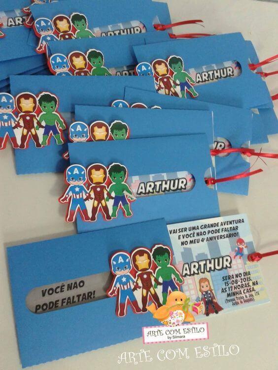 Children's birthday invitation avengers