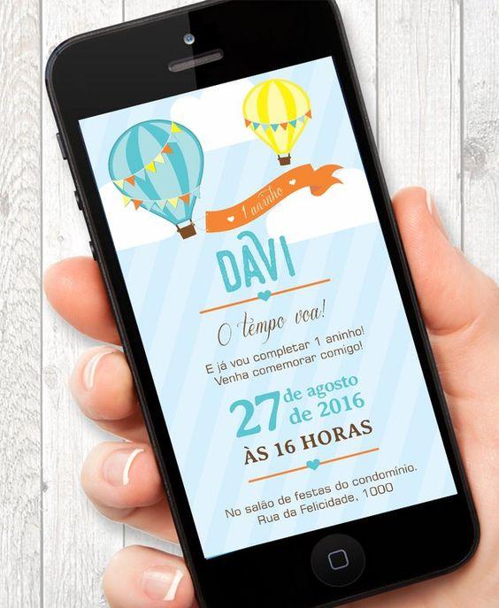 Children's and virtual birthday invitation