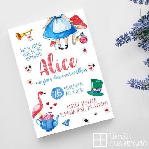 Alice in Wonderland Children's Birthday Invitation