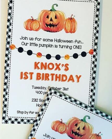 Children's Halloween Invitation