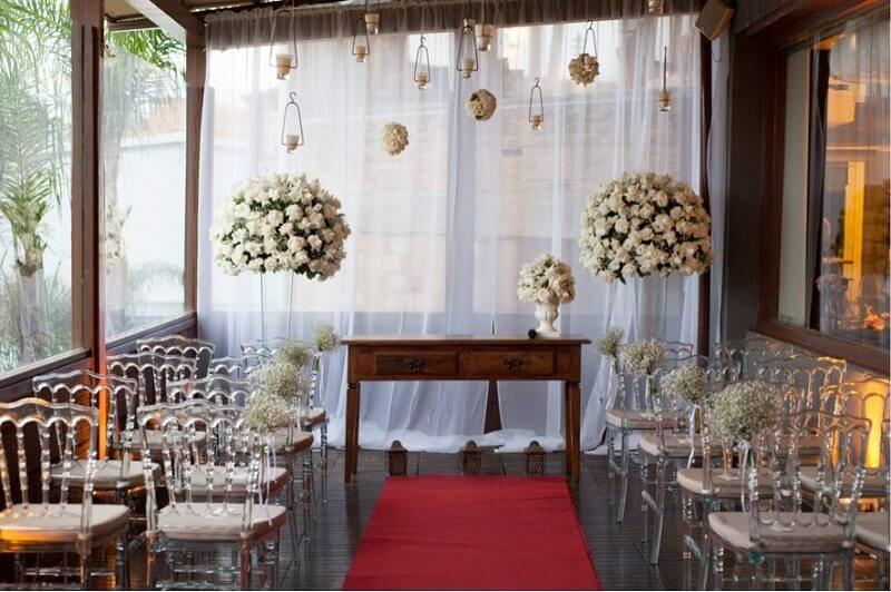 Beautiful simple wedding decoration at home
