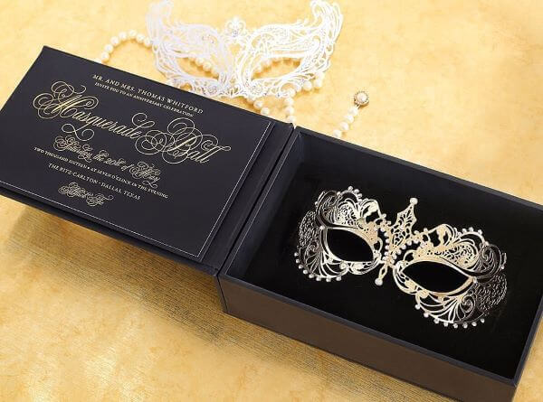 Invitation to masquerade for luxurious parties