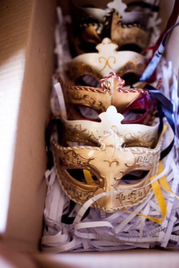 Buy beautiful masks for the guests