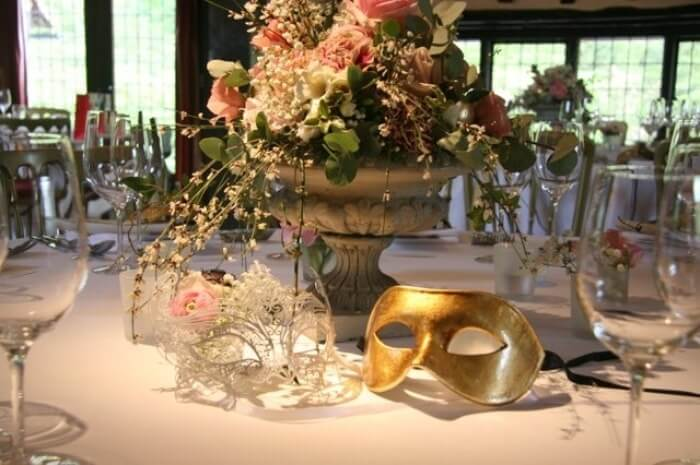 Dining table for masquerade party
