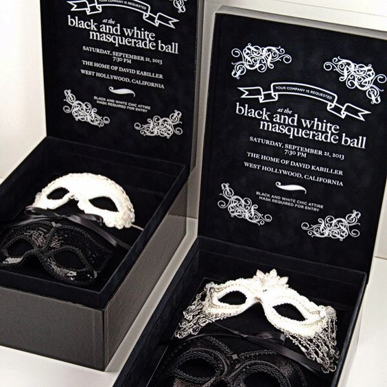 Invitation to Mask Ball