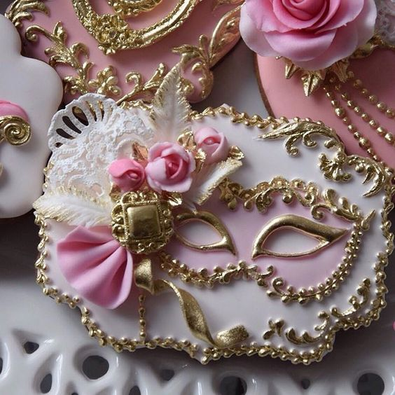 Sweets for birthday with theme masquerade ball