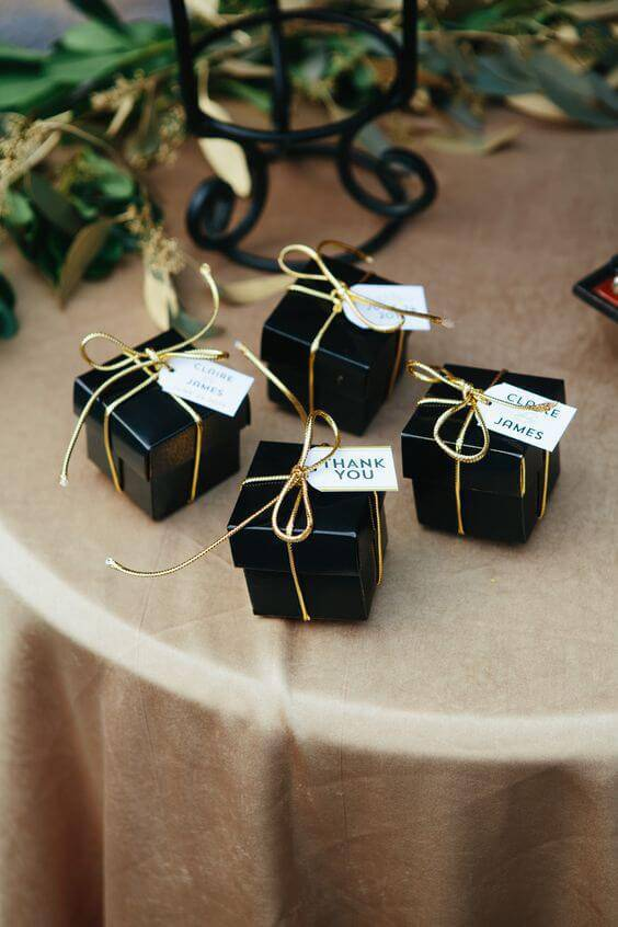Little black and gold paper souvenir box