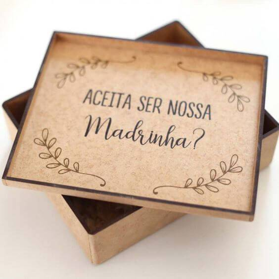 Wedding godmother's souvenir box