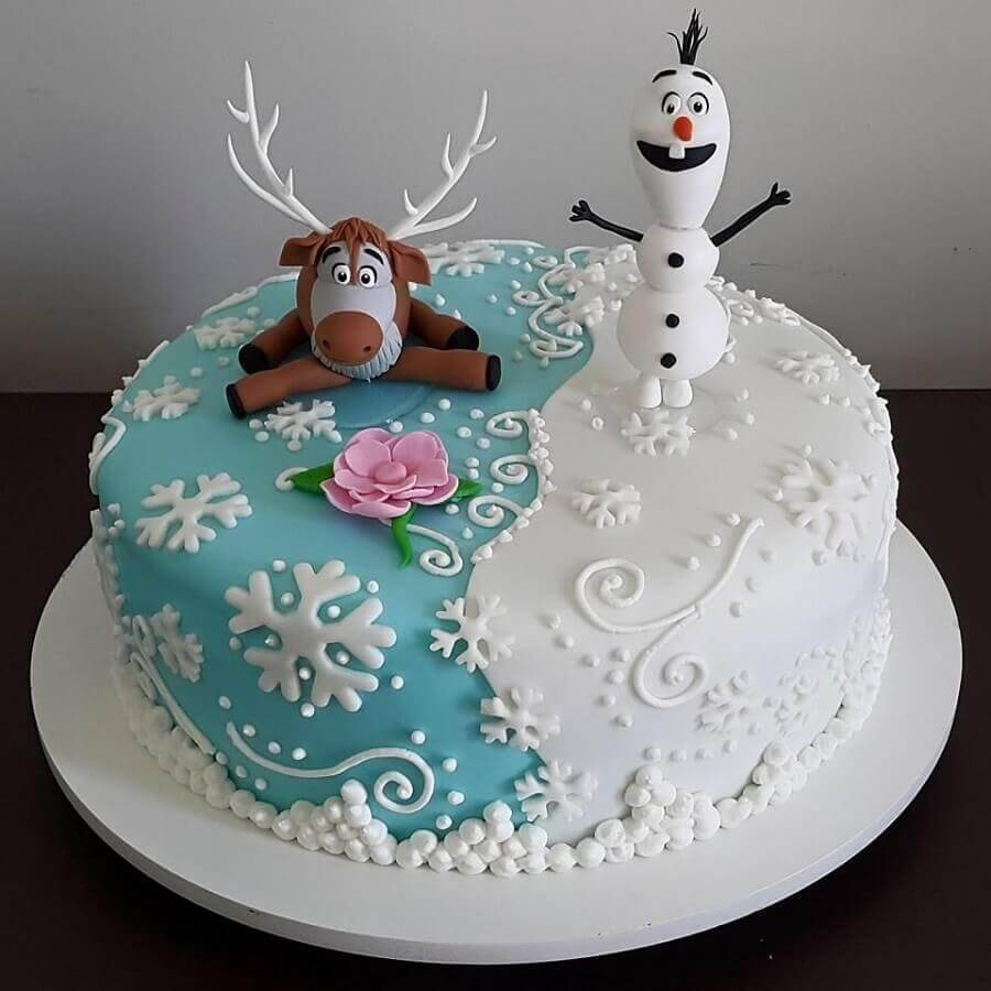 round frozen cake model Foto Pinterest