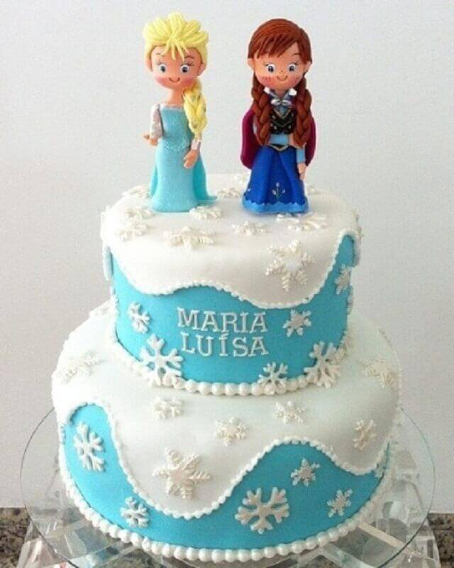 frozen 2-story cake top Photo Happy Birthday World