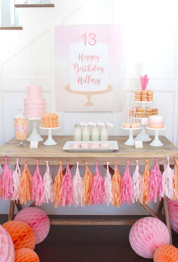 Party at home in shades of pink and orange
