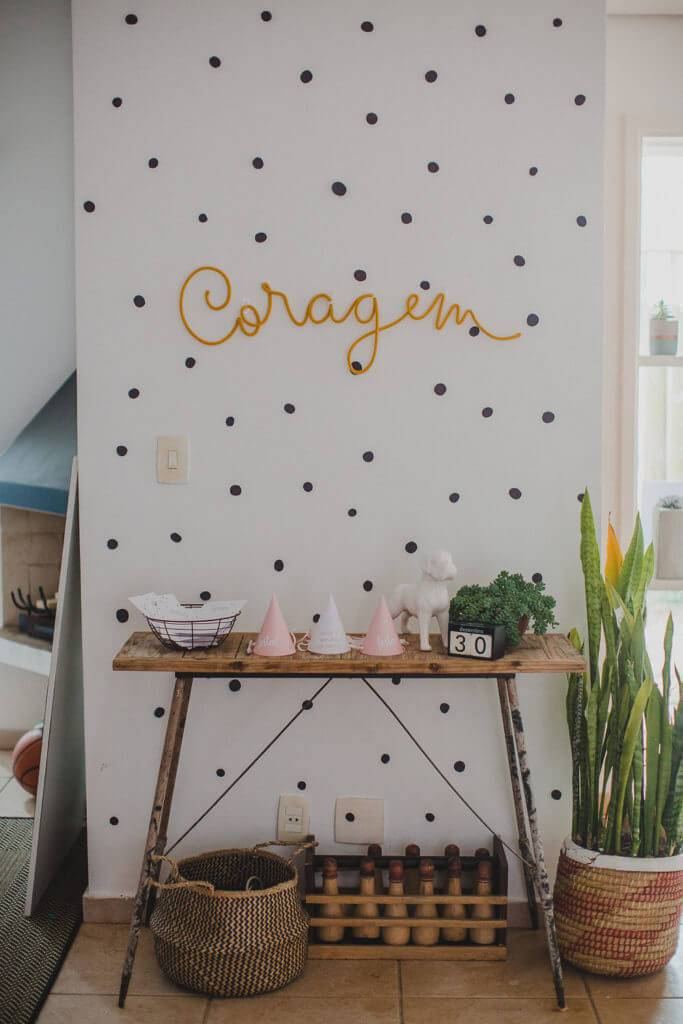 Party at home with simple decoration