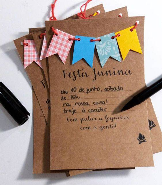 Invitation to Junina party at home