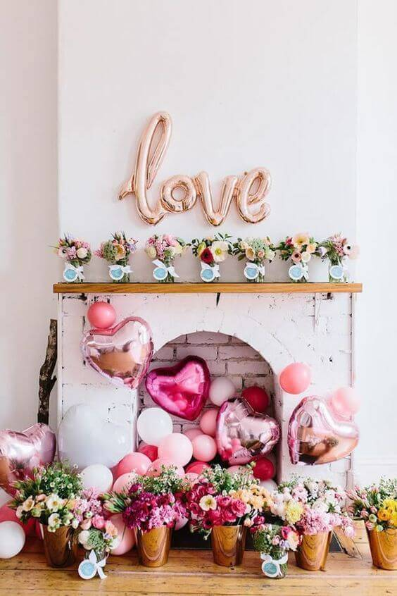 Home party decoration for wedding