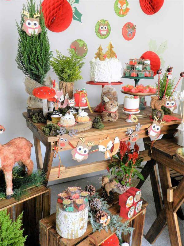 Party decoration at home with animals