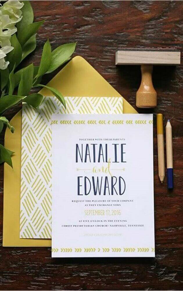 simple wedding invitation model