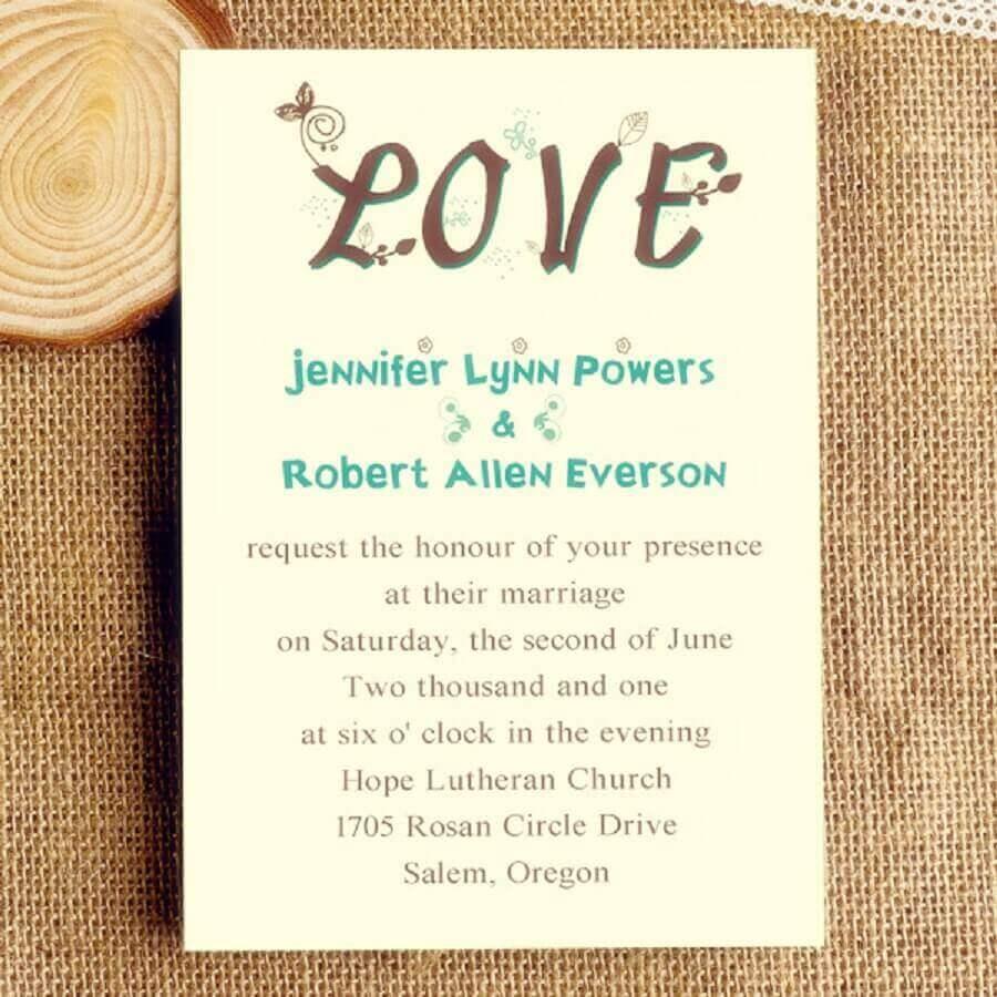 simple and fun wedding invitation