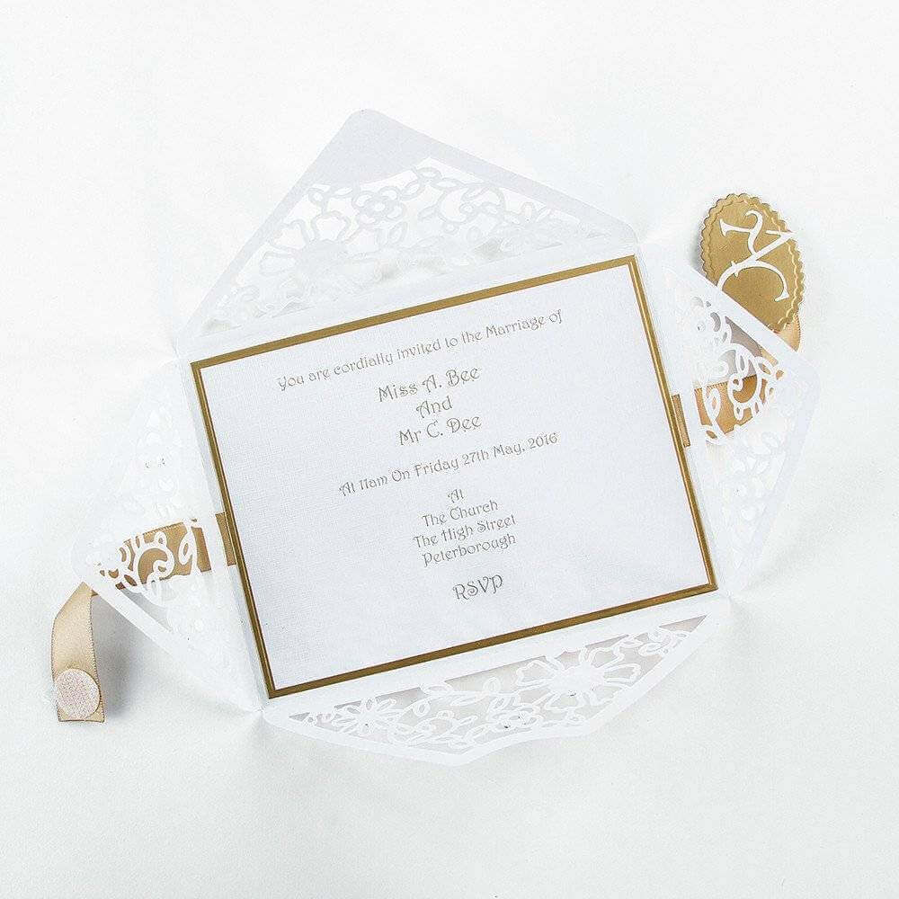 simple wedding invitation with empty envelope details