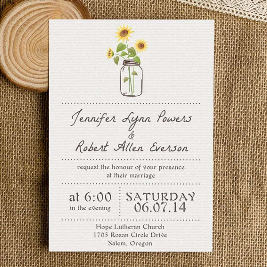 idea for a simple wedding invitation