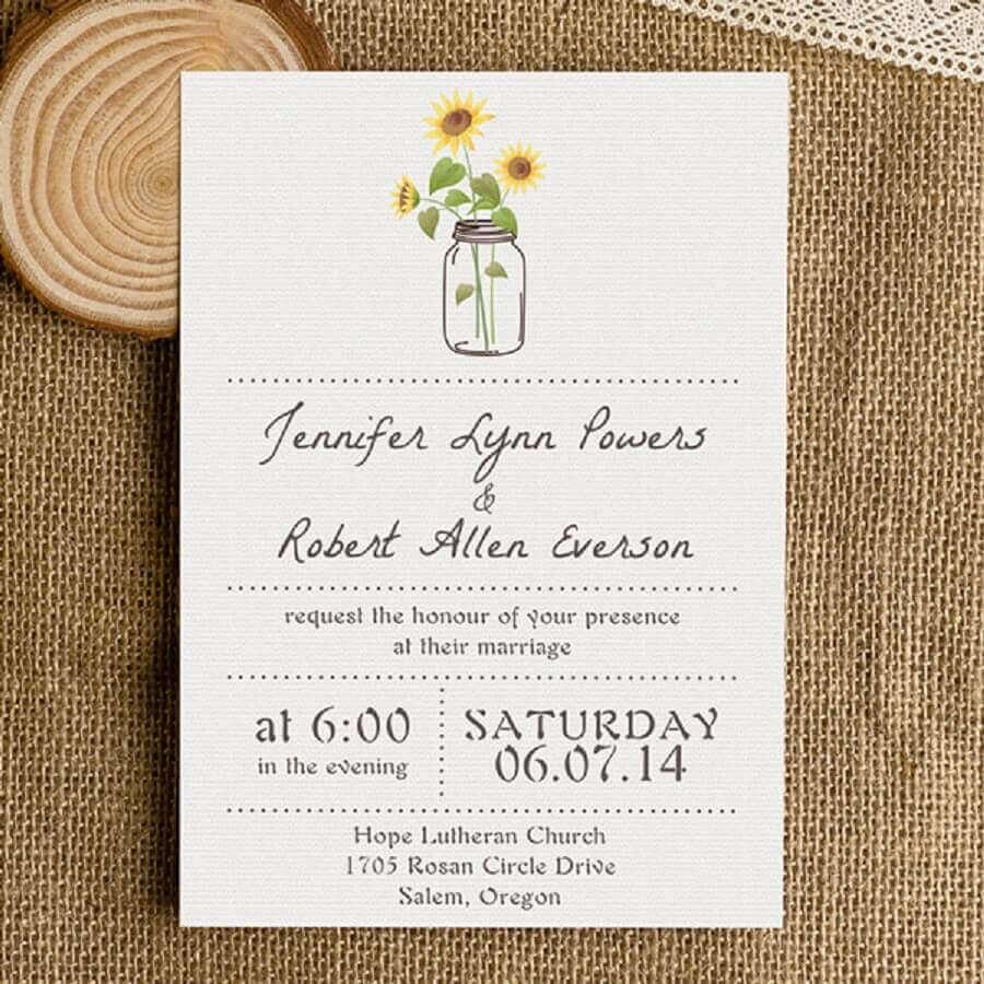 idea for a simple wedding invitation