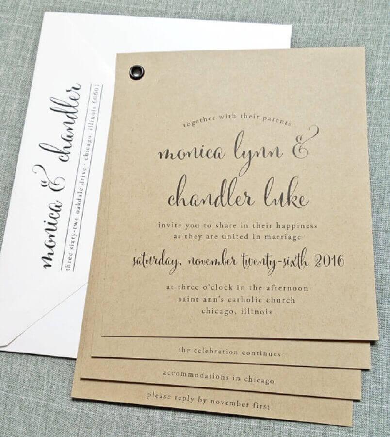 idea for a cheap and simple wedding invitation