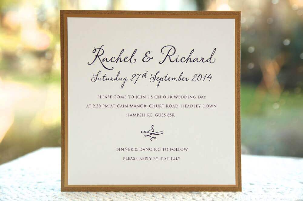 idea for a cheap and simple wedding invitation