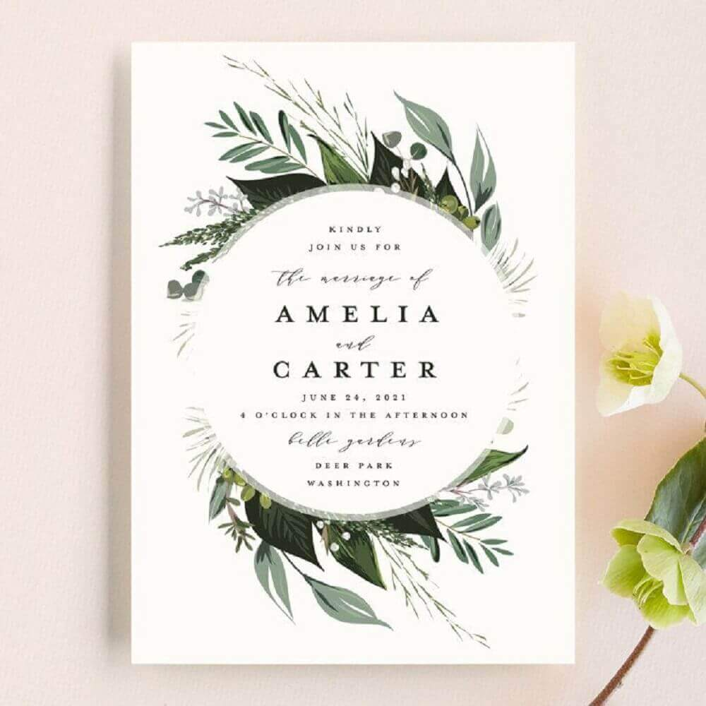 clean model for simple wedding invitation