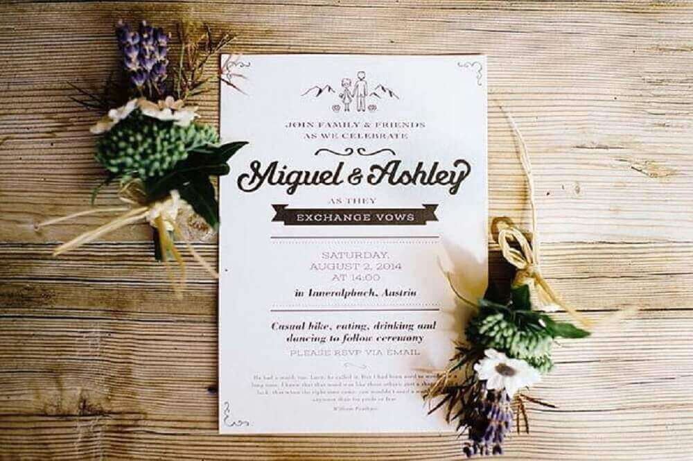 layout template for simple wedding invitation
