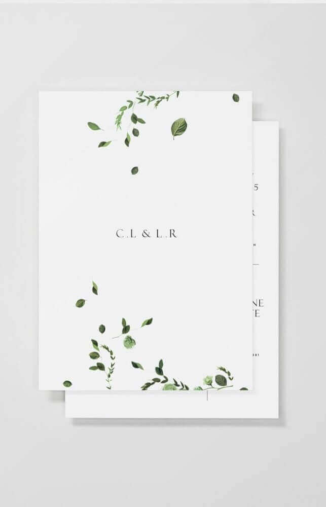 minimalist model for simple wedding invitation