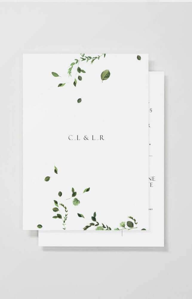 minimalist model for simple wedding invitation
