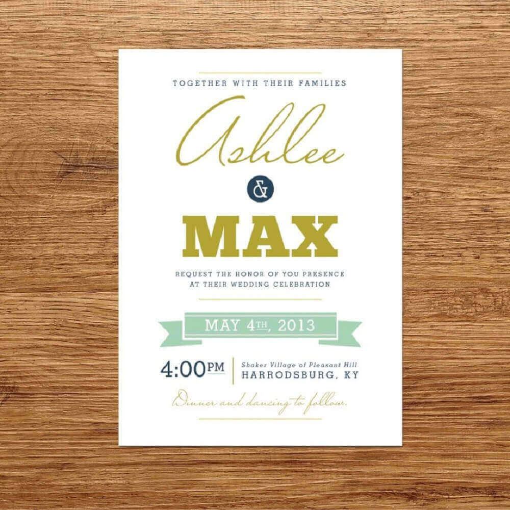 modern model of cheap and simple wedding invitation