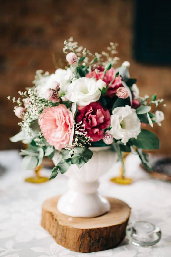 Flowers in the centerpiece