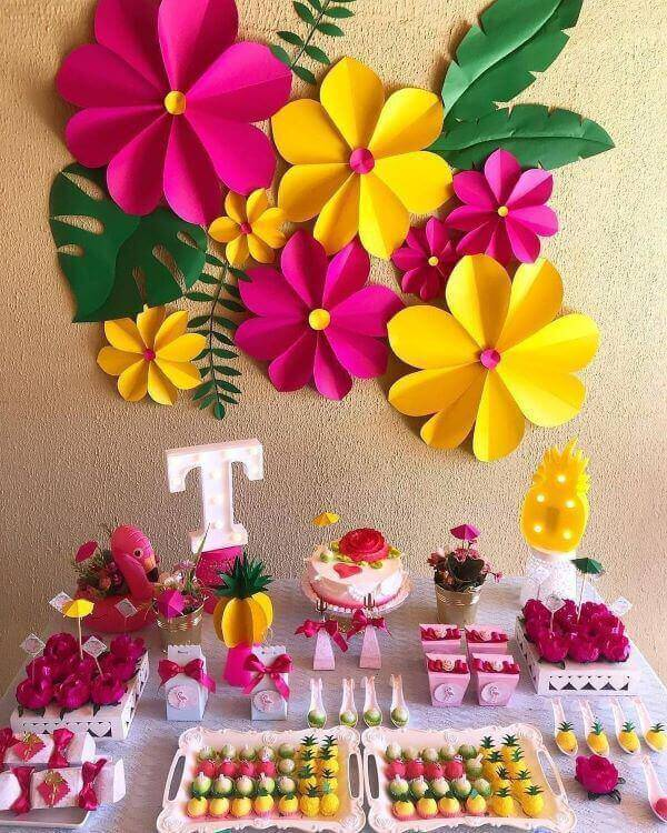 Decoration with flowers for party