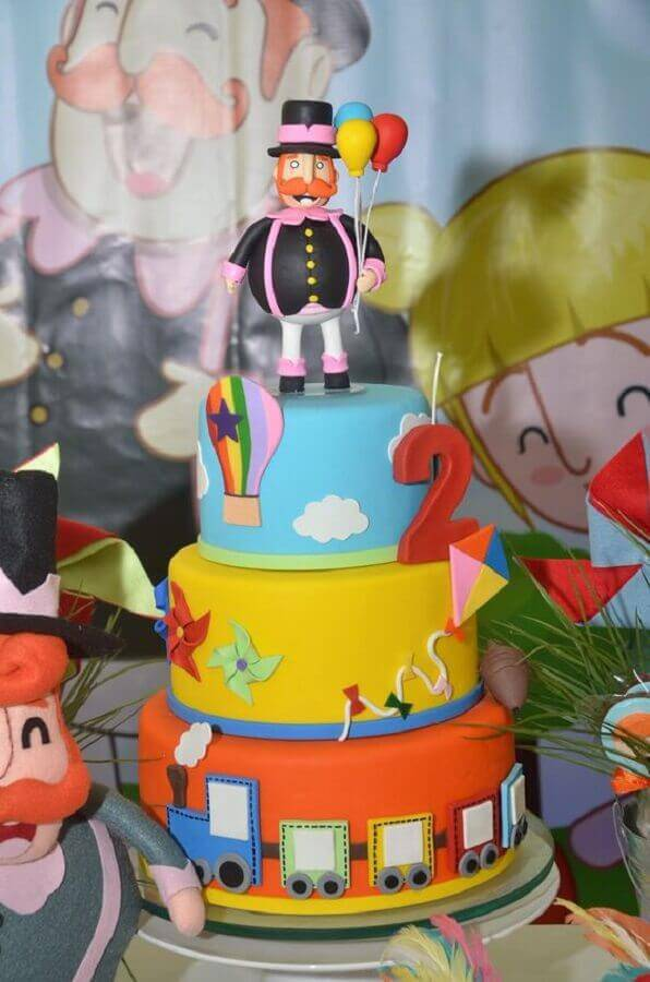 3 floor cake decorated for world party bita Photo Party Ideas