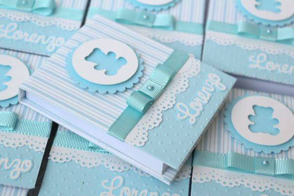 Personalized notebook for christening souvenir
