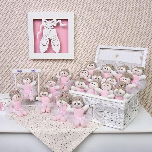 Little souvenir of christening girl made of felt