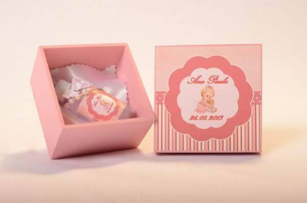 Christening souvenir with personalized box