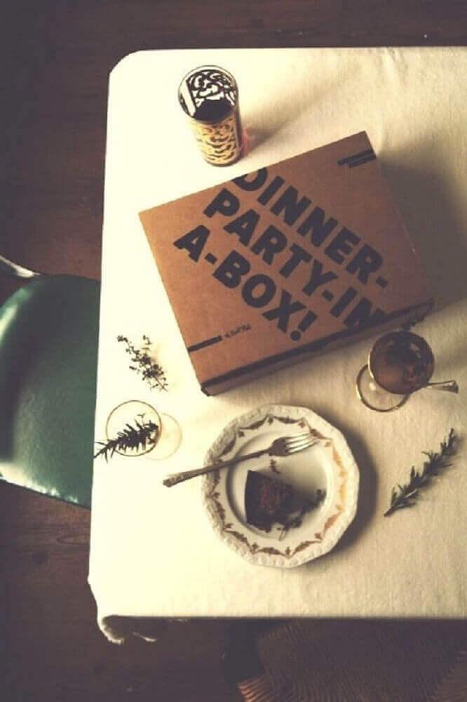 dinner box party - Foto Pinterest